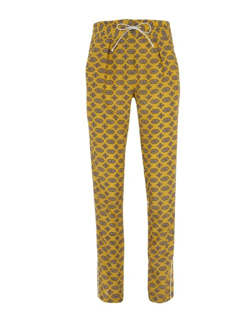 <p>Warehouse yellow printed pyjama pants, £45, for stockists call 0845 122 2251</p>