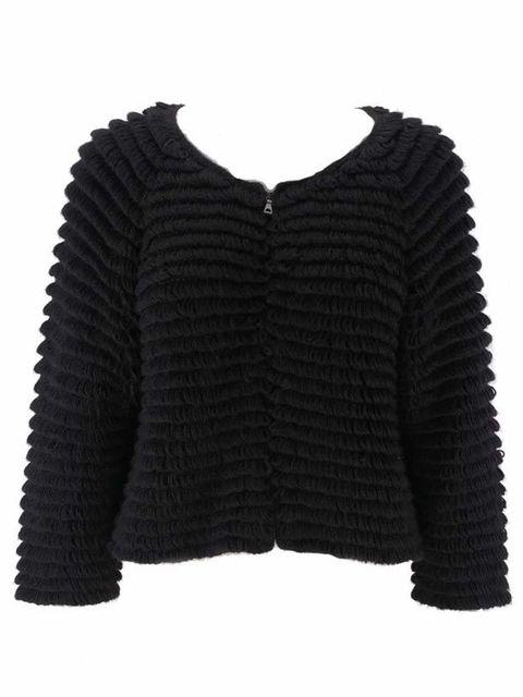 <p>Black shaggy cardigan, £339, by Vanessa Bruno Athe at Fenwick (0207 629 9161)</p>