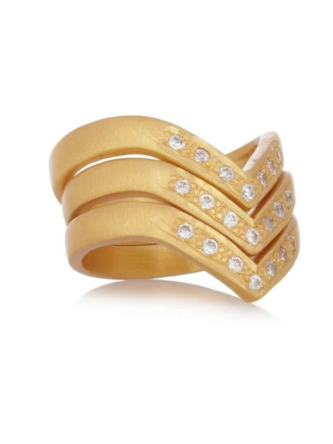 """<p>Three for the price of one. Gold cubic rings, £47.25 at <a href=""""http://www.theoutnet.com/product/418790"""">The Outnet</a>.</p>"""