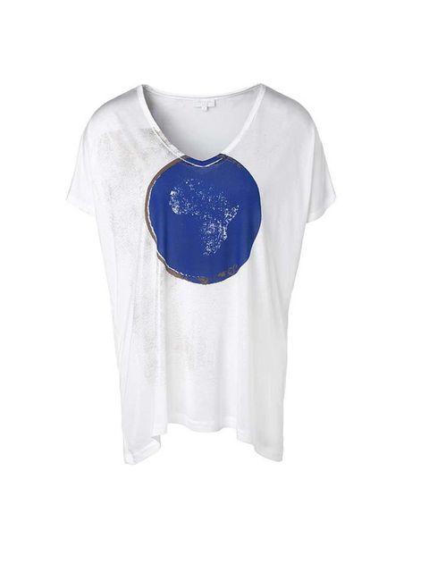 "<p>Casual jersey top with a feminine neckline, £85 at <a href=""http://uk.escada.com/alle-styles/luxus/t-shirt-ejana/5012574.A427"">Escada</a>. </p>"