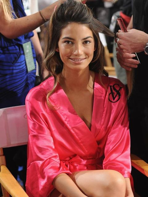 "<p><a href=""http://www.elleuk.com/starstyle/style-files/(section)/lily-aldridge"">Lily Aldridge</a> backstage at the <a href=""http://www.elleuk.com/content/search?SearchText=victoria+secrets&amp;SearchButton=Search"">Victoria's Secrets</a> Show, 9 November"