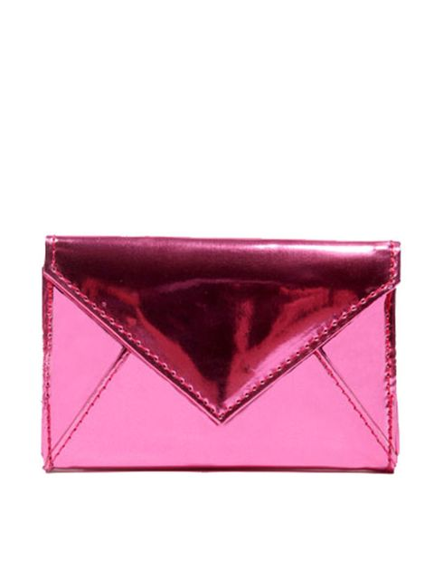 """<p>Pink and metallic? This is the perfect party purse… <a href=""""http://www.urbanoutfitters.co.uk/foil-mini-envelope-purse/invt/5770463413504/&bklis"""">Urban Outfitters</a> pink foil purse, £12</p>"""