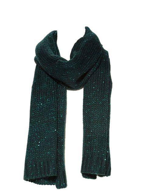 "<p><a href=""http://www.zara.com/webapp/wcs/stores/servlet/product/uk/en/zara-W2011/131508/440508/SEQUINNED%2BKNIT%2BSCARF"">Zara</a> green sequin scarf, £19.99</p>"