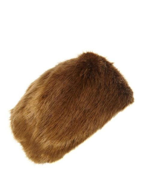 <p>Topshop faux fur cossack hat, £22</p>