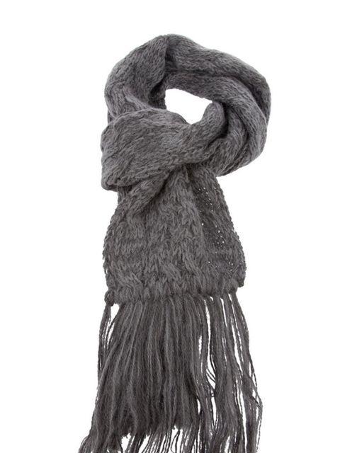 "<p>Peter Jensen grey cable knit scarf, £69, at <a href=""http://shop.bstorelondon.com/shopping/women/accessories/item10116209.aspx"">b Store</a></p>"