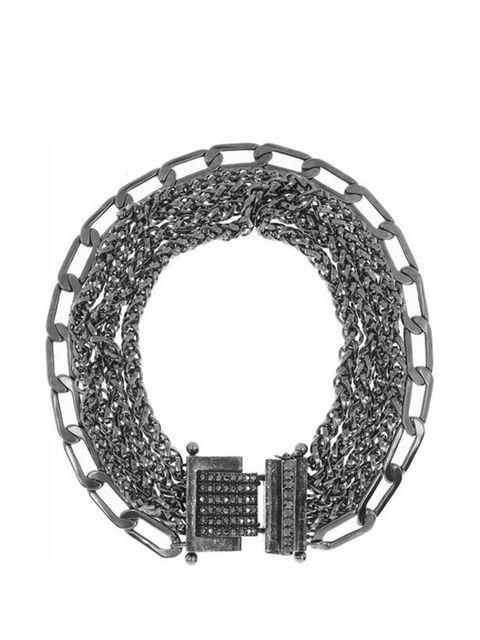 "<p>Lanvin multi-strand Swarovski crystal &amp&#x3B; pewter choker, £785, at <a href=""http://www.net-a-porter.com/product/164857"">Net-a-Porter</a></p>"