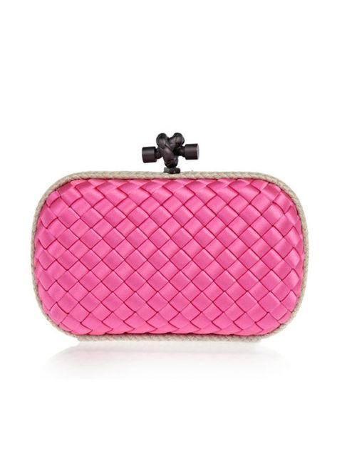 "<p>Bottega Veneta 'Intrecciato' satin knot clutch, £890, at <a href=""http://www.net-a-porter.com/product/176667"">Net-a-Porter</a></p>"