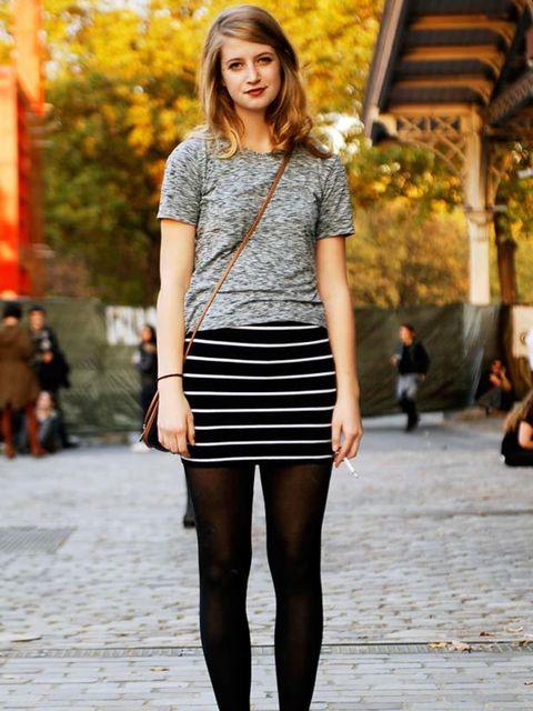 <p>Amanda Kievet, Student. Top from Flee market, Target skirt, Converse shoes.Photo by Nicolas Heron?.</p>