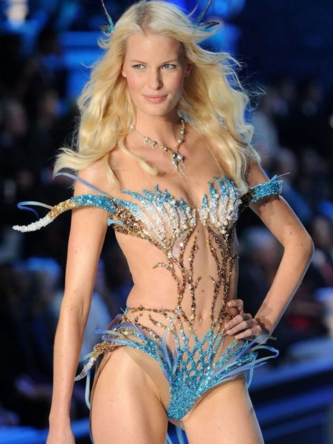 "<p>Caroline Winberg on the catwalk at the <a href=""http://www.elleuk.com/content/search?SearchText=victoria+secrets&SearchButton=Search"">Victoria's Secrets</a> Show, 9 November 2011</p>"