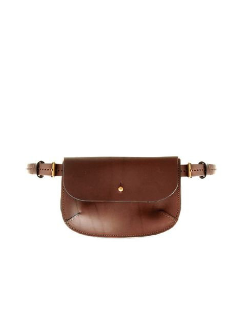 """<p>Ally Capellino belt bag, £99, at <a href=""""http://www.asos.com/au/countryid/1/Ally-Capellino/Ally-Capellino-Belted-Pouch-Bag/Prod/pgeproduct.aspx?iid=1702576&cid=11617&sh=0&pge=0&pgesize=20&sort=-1&clr=Brown&r=2"""">Asos</a></p>"""