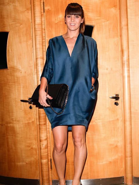 <p>Photo by Phill Taylor.Sunshine Bertrand. Victoria Beckham dress and bag, Marni shoes.</p>
