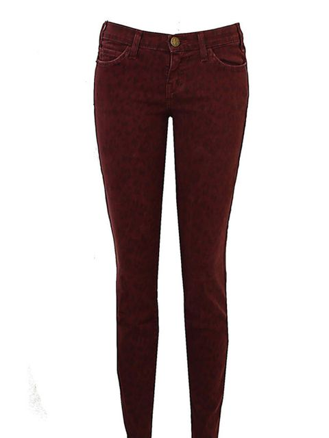 """<p>Just add a chunky knit and statement boots to create a directional winter look… Current/Elliott burgundy leopard jeans, £180, at <a href=""""http://www.oxygenboutique.com/p-534-the-ankle-skinny-in-fig-leopard.aspx"""">Oxygen Boutique</a>  </p>"""