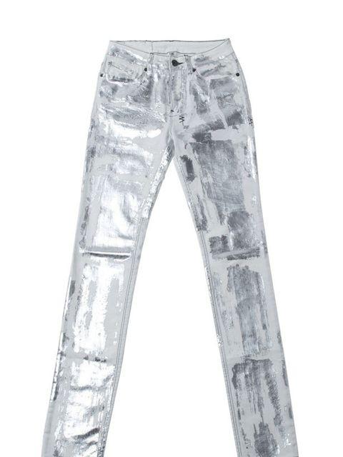 <p>Ksubi metallic jeans, £340, at Selfridges, for stockists call 0800 123 400</p>