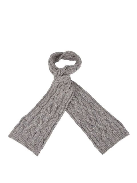 """<p>Nothing is as cosy a cable knit scarf, so wrap up in style with a classic Paul Smith number… <a href=""""http://www.paulsmith.co.uk/shop/paul-smith-womens-scarves-446/paul-smith-scarf-cable-knit-scarf-wexa-587a-v09-l/product.html"""">Paul Smith</a> cable kni"""