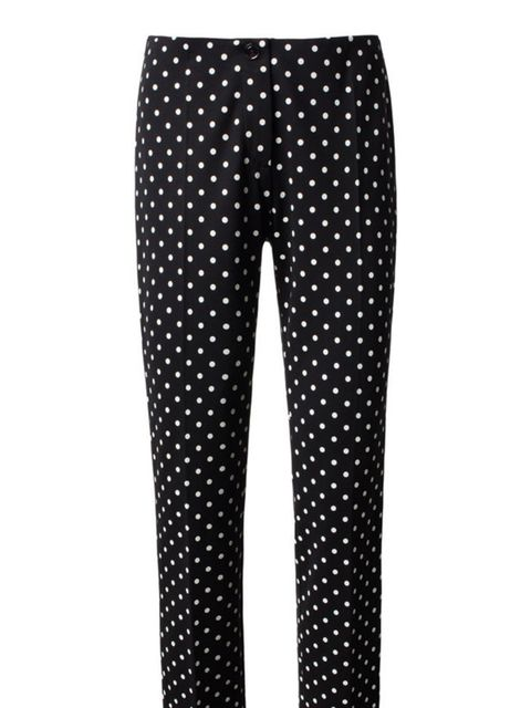 <p>These spotty trousers perfectly sum up why we love cruise collections. So chic, so covetable and perfect for now or spring. We love… Marc Cain polka dot trousers, £189, for stockists call 01704 823 005</p>