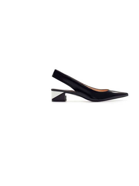 """<p>A pair of well-polished black shoes is a menswear staple, and these sleek slingbacks are the perfect womenswear alternative!</p><p><a href=""""http://www.zara.com/uk/en/woman/shoes/combination-sling-back-c358009p1294570.html"""">Zara</a> shoes, £59.99</p>"""
