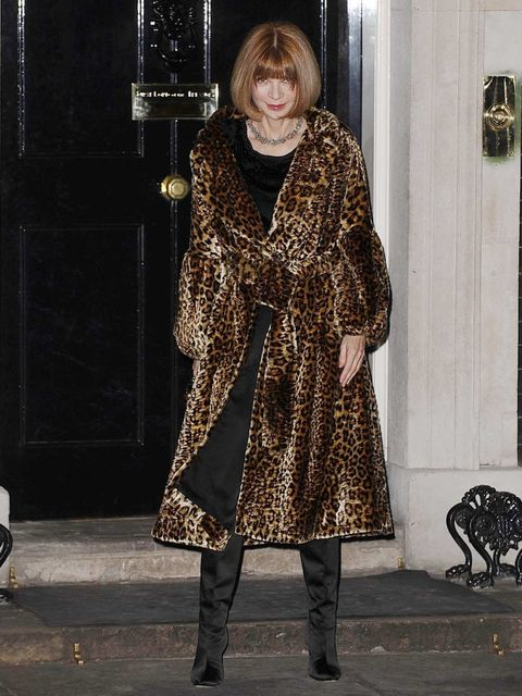 <p>Anna Wintour at the Downing Street reception</p>