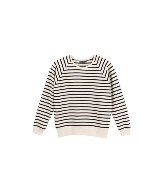 "<p>Designer Phoebe Sing will pair this simple breton with an a-line skirt and lace-up ankle boots.</p><p><a href=""http://www.petit-bateau.co.uk/e-shop/product/34295/4N9/women-s-sailor-striped-sweatshirt-in-brushed-fleece.html"">Petit Bateau</a> sweatshirt,"