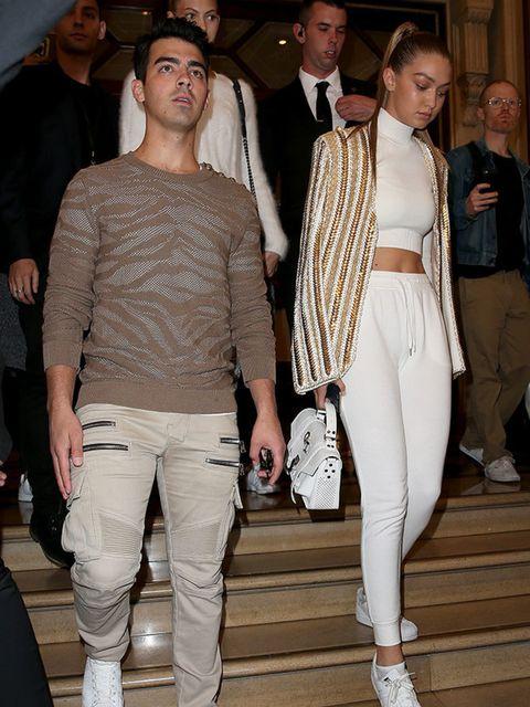 <p>Gigi Hadid & Joe Jonas work the tonal matchy look. If it works...</p>