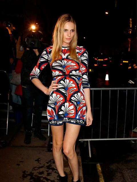 Andreja Pejic attends the Victoria Beckham dinner at the end of London Fashion Week s/s16  in London, September 2015.