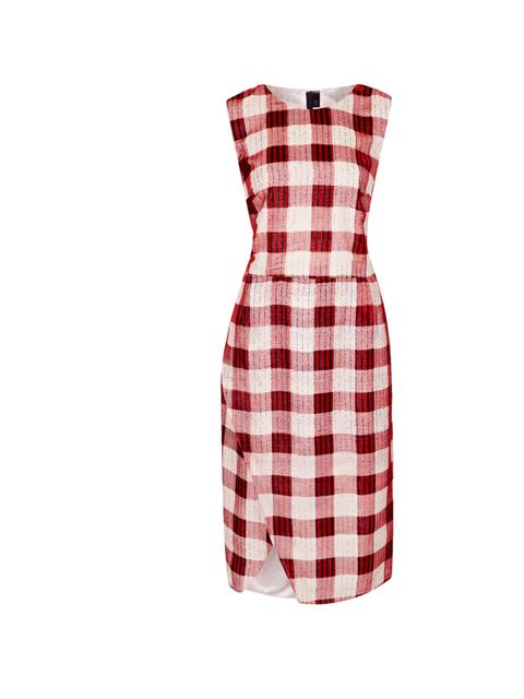 """<p>Give this catwalk worthy dress a cool edge with chunky ankle boots and a bold lip… Topshop Boutique check dress, £150</p><p><a href=""""http://shopping.elleuk.com/browse?fts=topshop+boutique+check+dress"""">BUY NOW</a></p>"""