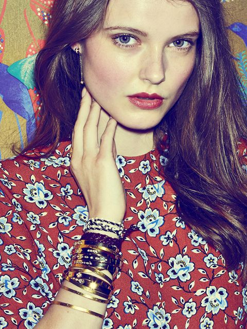 <p><strong>The Golden Touch</strong></p><p>Gold bangles give a high fashion spin this season, ready to liven up any outfit. Wear as many as possible. Change it up with a few casual friendship bracelets. Complete with a single earring. The perfect twist.