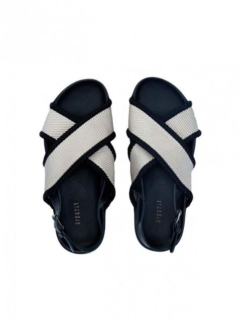 """<p>Trying a chunky sandal? Keep the balance with a glossy pedicure.</p><p><a href=""""http://www.claudiepierlot.com/en_uk/chaussures-aventure-27289.html"""" target=""""_blank"""">Claudie Pierlot</a> sandals, £209</p>"""