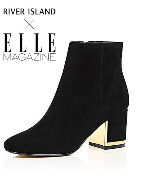"<p><a href=""http://www.riverisland.com/women/shoes--boots/ankle-boots/black-suede-block-heel-boots-670571"" style=""line-height: 1.6;"" target=""_blank"">River Island</a><span style=""line-height:1.6""> boots, £65 (£48.75 with your 25% off River Island card)</sp"