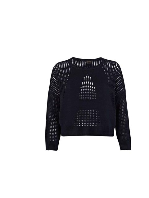 """<p>River Island is my go-to for statement pieces that channel the key new season trends.</p><p>- Sarah Bonser, Fashion Assistant</p><p><a href=""""http://www.riverisland.com/women/knitwear/jumpers/Navy-mesh-panel-cropped-jumper-636308"""">River Island</a> jumpe"""