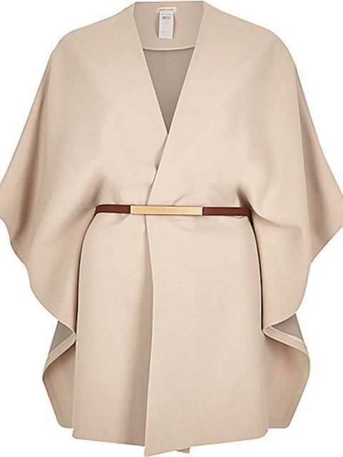 <p>River Island cape, £55</p>  <p>( £41.25 with your October ELLE discount)</p>