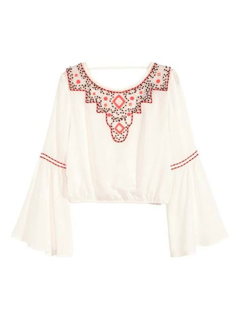 """<p><a href=""""http://www.hm.com/gb/product/81834?article=81834-B"""" target=""""_blank"""">H&M </a>blouse, £29.99</p>"""