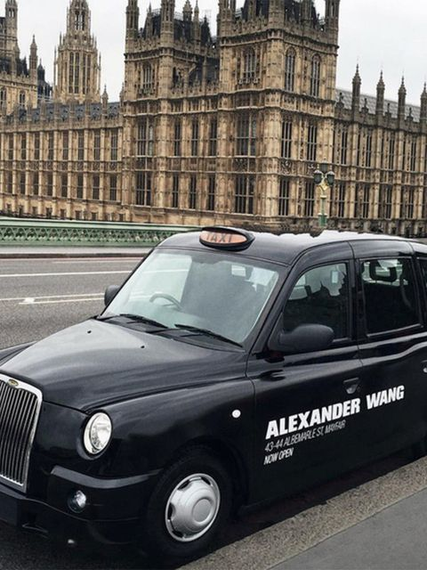 Alexander Wang (alexanderwangny)  The #AlexanderWang logo takes over black cabs to mark the opening of the new London Flagship store. Visit #AWLondon at 43-44 Albemarle Street in Mayfair #AWDebut