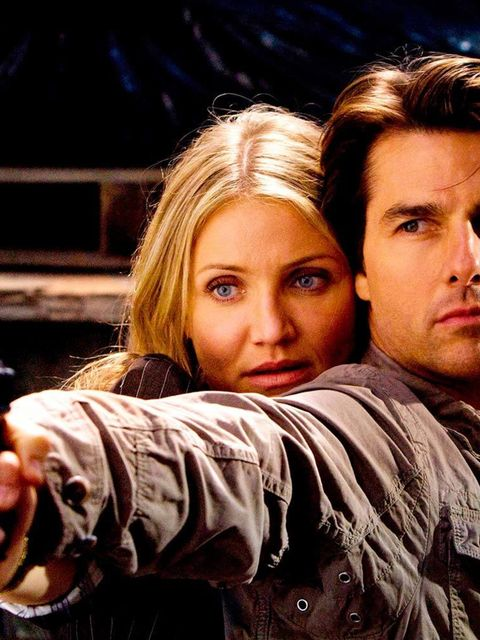 <p><strong>Cameron Diaz and Tom Cruise</strong></p>  <p>Cameron Crowe-directed <em>Vanilla Sky</em> first saw the stars join with Cam Diaz's on-screen unrequited pursuit of Tom Cruise. Eight years later, the pair headed up action flick <em>Knight and Day<