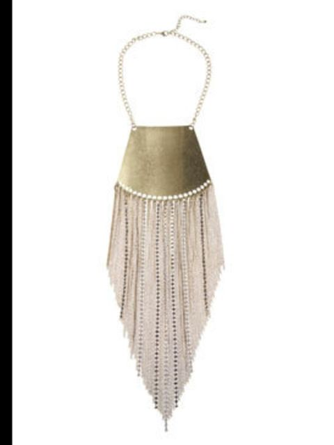 <p>Breast plate necklace, £50, Freedom at Topshop (0845 121 4519)</p>