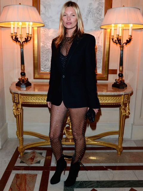 <p>Kate Moss wears Saint Laurent autumn/winter 2013</p>