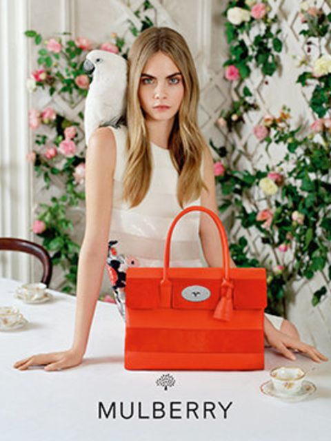 <p>Cara Delevingne for Mulberry, spring/summer 2014</p>