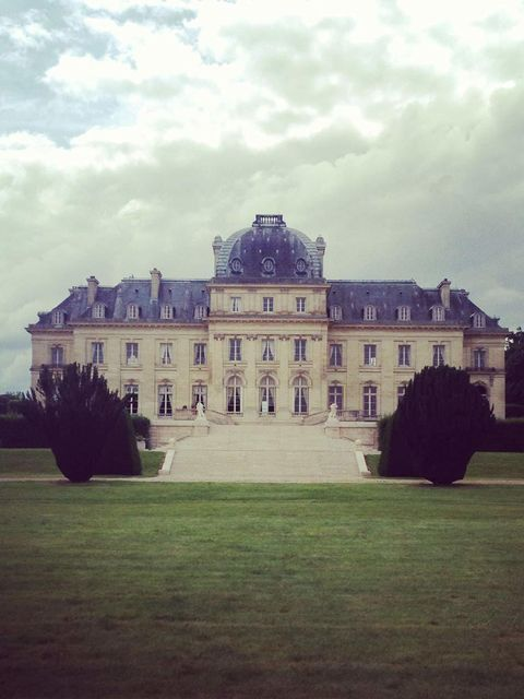 Our shoot location for the day - a château. Casual.