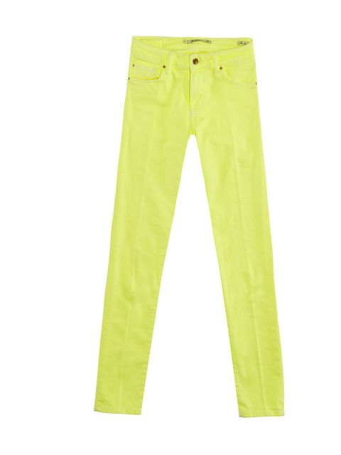 <p>For anyone wary of the neon trend , these affordable Zara jeans are the perfect way to test the water. Style with marl gray or white T-shirts... Zara neon yellow jeans, £35.99, for stockists call 0207 534 9500</p>