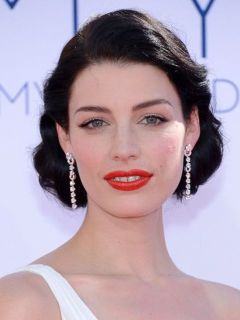 <p>Jessica Pare at the Emmy Awards 2012</p>