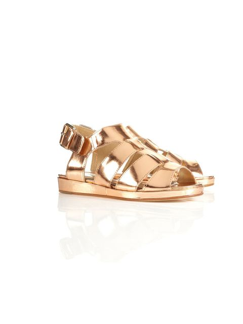 """<p>Topshop Premium metallic sandals, £70</p><p><a href=""""http://shopping.elleuk.com/browse?fts=topshop+metallic+sandals"""">BUY NOW</a></p>"""