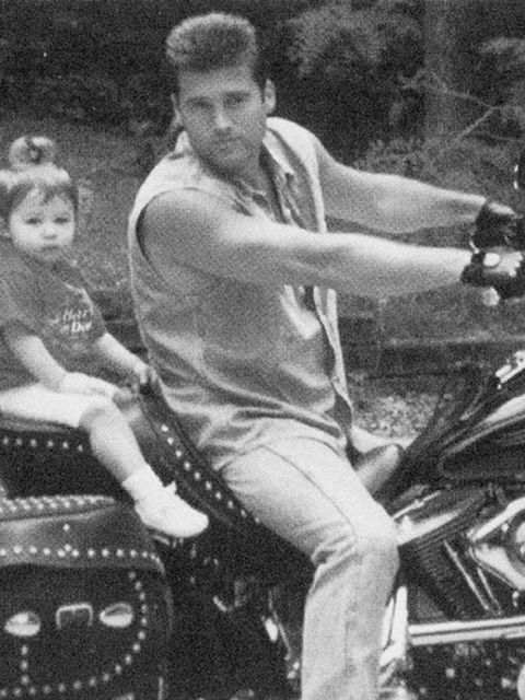 Billy Ray Cyrus (@billyraycyrus) 'With @MileyCyrus in our Nashville driveway before taking a ride on my @harleydavidson. #tbt'