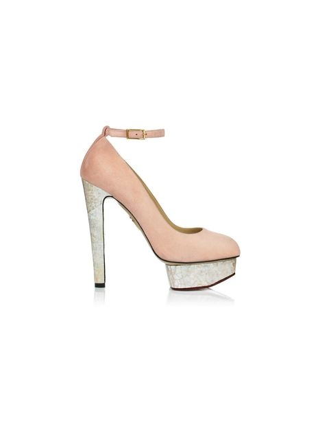 "<p><a href=""http://www.charlotteolympia.com/index.php"">Charlotte Olympia</a> 'Lola' nude suede heels, Price on request</p>"
