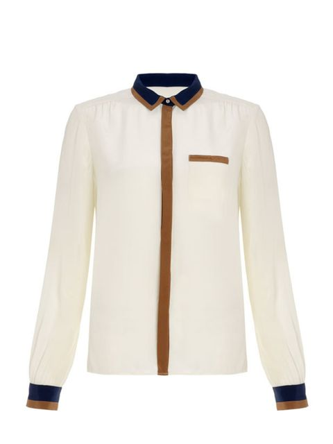 "<p>Make the return to work more enjoyable with a chic new blouse… <a href=""http://www.whistles.co.uk/fcp/categorylist/dept/shop?resetFilters=true"">Whistles</a> colour block blouse, £125</p>"