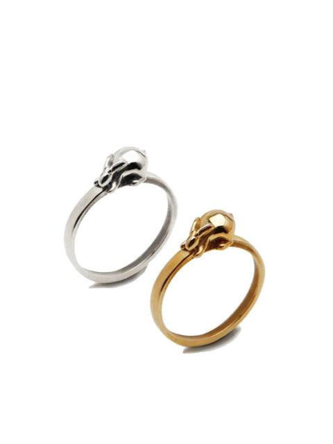 "<p>Simple and cute, these rabbit rings will be a jewellery box favourite for years to come… <a href=""http://www.emiliethomas.co.uk/shop/"">Emilie Thomas</a> silver rabbit ring, £75, and gold ring, £98  </p>"