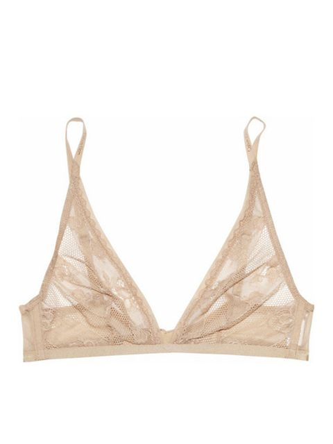 "<p>Calvin Klein Underwear nude lace bra, £34, at <a href=""http://www.net-a-porter.com/product/187715"">Net-a-Porter</a></p>"