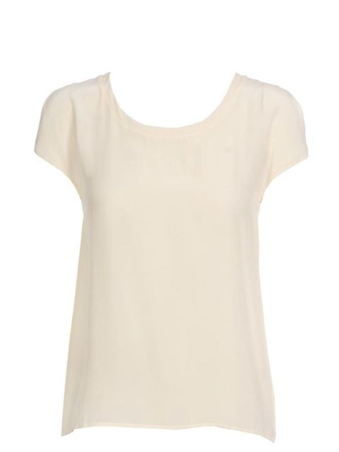"<p>Club Monaco silk T-shirt, £160, at <a href=""http://www.brownsfashion.com/Product/Inez_silk_blouse/Product.aspx?p=3509270"">Browns </a></p>"