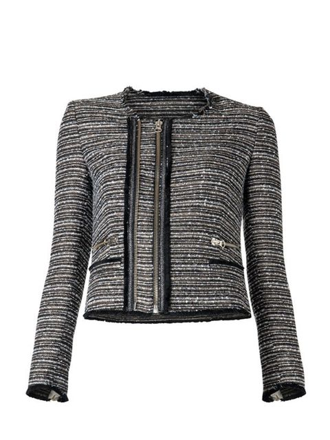 """<p>Mango's tweed-style jacket is a fail-safe modern classic, perfect for taking you from day to night… <a href=""""http://shop.mango.com/home.faces;jsessionid=8DFD5F3F696AFB43A5BD9F1910EDB791?state=she_006_IN"""">Mango</a> tailored cropped jacket, £85</p>"""