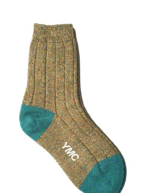 "<p>YMC x Scott Nichol tow-tone hand finished socks, £12, at <a href=""http://www.youmustcreate.com/products/accessories-womenswear/ymc-x-scott-nicol-socks-6/"">YMC</a></p>"