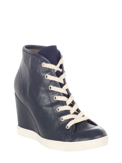 "<p><a href=""http://www.dune.co.uk/"">Dune</a> leather wedge trainers, £115</p>"