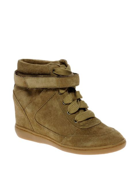 "<p><a href=""http://www.aldoshoes.com/uk/trends/call-of-the-wild/women/86873784-netz/37"">Aldo</a> taupe suede wedge trainers, £80</p>"